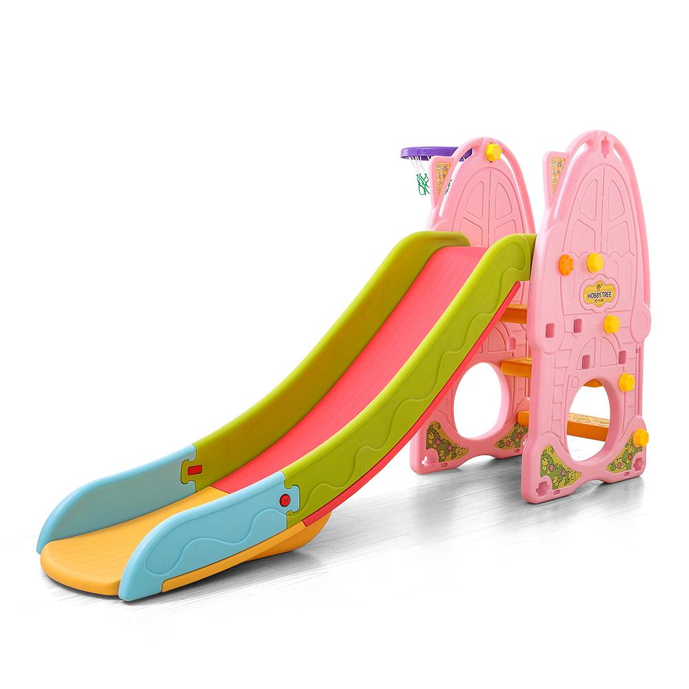 Tobogan Nichiduta Pink Play and Slide 2in1 cu cos de baschet imagine