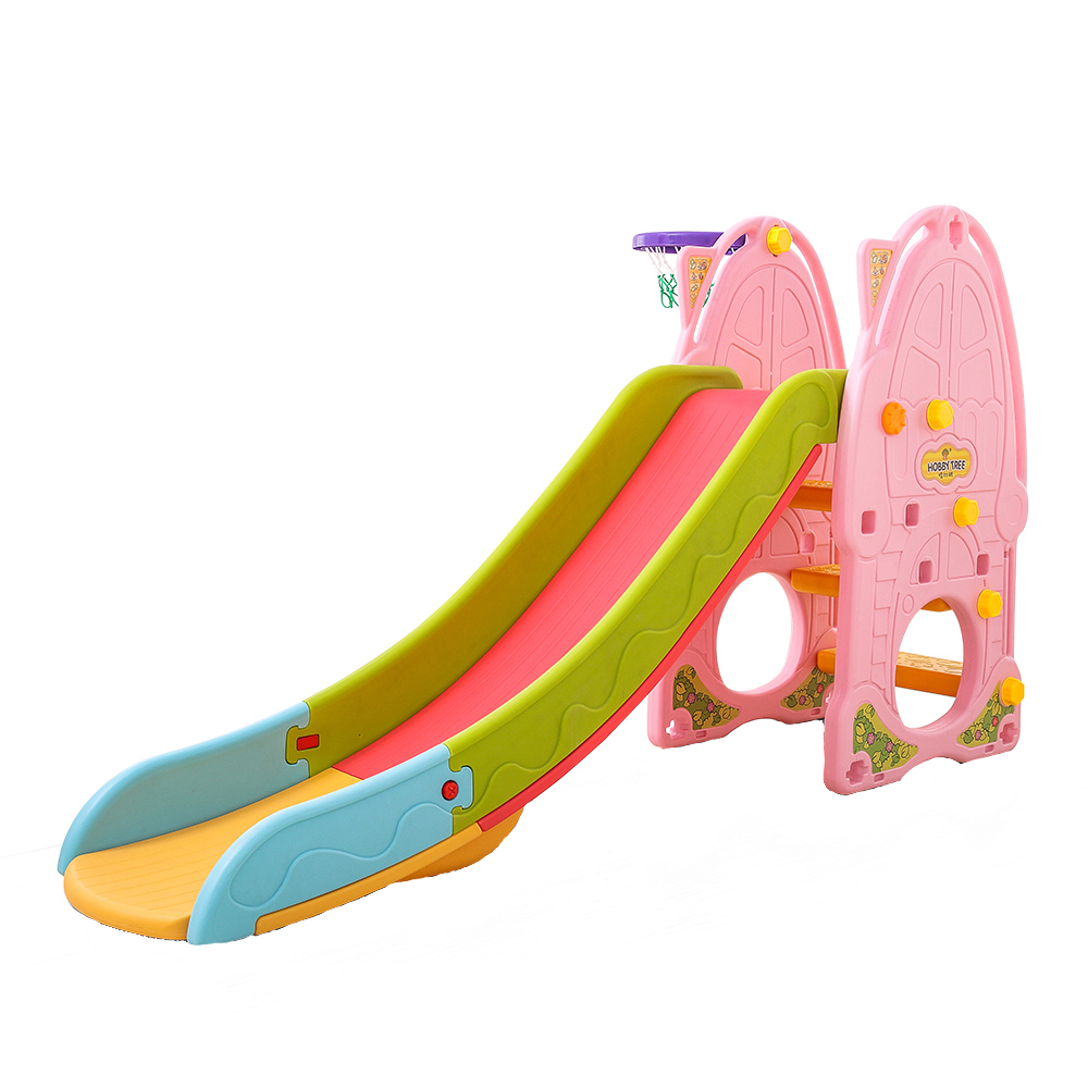 Nichiduta Tobogan Nichiduta Pink Play and Slide 2in1 cu cos de baschet