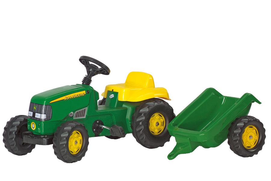 Tractor cu pedale Rolly Kid John Deere cu remorca - 1