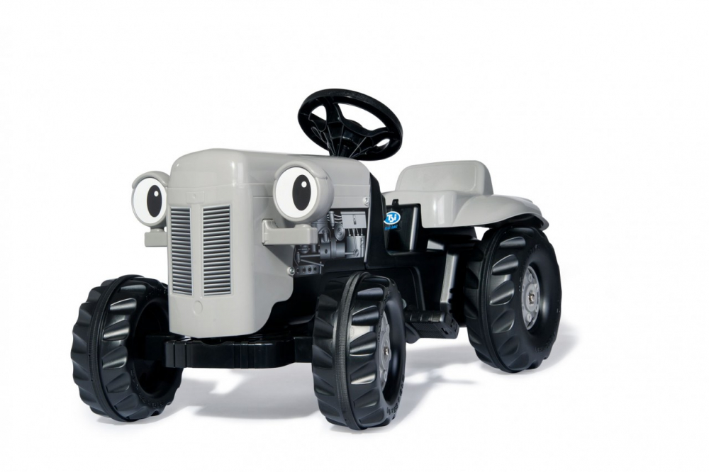 Tractor cu pedale Rolly Kid Little Grey Fergie cu remorca