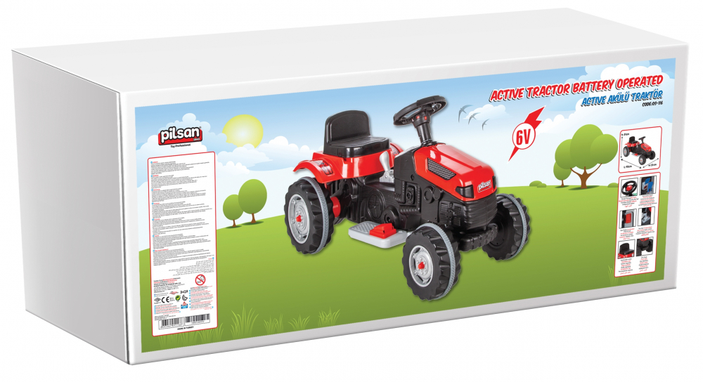 Tractor electric Pilsan Active 6V verde