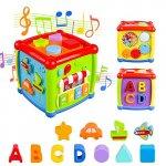 Cub bebe educativ cu sunete si forme colorate