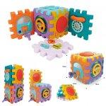 Cub demontabil cu activitati, lumini, sunete si forme colorate