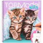 Carte de colorat pisici Top Model Depesche PT11133