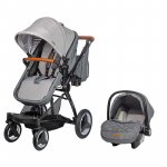 Carucior transformabil 3 in 1 Coccolle Ambra Urban Grey 2021