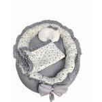 Cuib cu paturica si pernuta pentru bebelusi Lux