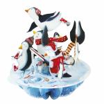 Felicitare 3D Pirouettes Santoro Pinguinii lui Mos Craciun