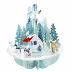 Felicitare 3D Pirouettes Santoro Winter wonderland