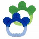 Jucarii pentru dentitie din silicon set 2 bucati Green Sprouts by iPlay Blue&Green