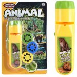 Lanterna proiector cu 3 diapozitive Animale Bambinice BN014