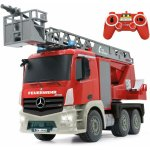 Masina pompieri cu telecomanda Mercedes Antos cu scara si pompa de apa Jamara