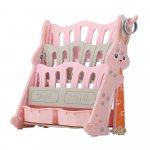 Organizator pentru carti si jucarii Nichiduta Rabbit Pink