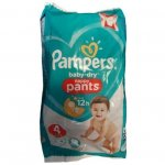 Scutece chilotel Pampers Baby-Dry Nappy Pants 4 (9-15 kg) 4 buc