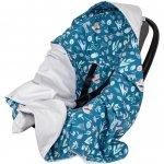 Paturica de infasat pentru scaun auto Velvet Infantilo IF19109 Blue Forest/Gri