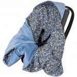 Paturica de infasat pentru scaun auto Velvet Infantilo IF19109 Stones/Albastru