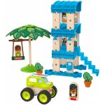 Set constuctie Fisher-Price Wonder Makers Beach Bungalow 35 piese