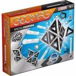 Set de constructie magnetic Geomag editie speciala BlackWhite 60 piese