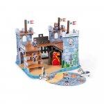Set de joaca din lemn mini povesti Castelul fortificat si dragon Janod J08582