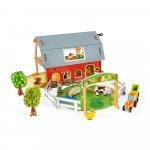Set de joaca din lemn mini povesti Ferma cu animale Janod J08577