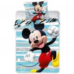Set lenjerie pat copii Mickey Run 100x135 + 40x60 SunCity albastru