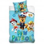 Set lenjerie pat copii Paw Patrol Chase 100x135 + 40x60 SunCity albastru