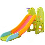 Tobogan Nichiduta Green Play and Slide 2in1 cu cos de baschet