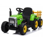 Tractor electric 12V cu remorca Farmer Green