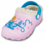Slapi Crocs Cinderella Lined Custom Clog Bubblegum/Light Blue 24 (149 mm - C8)