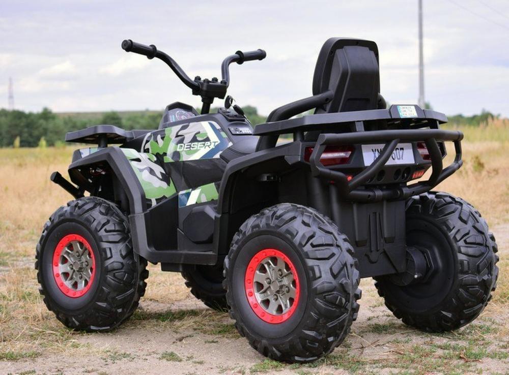 Atv electric Nichiduta Desert Army cu roti din cauciuc si pornire la cheie 12V - 6