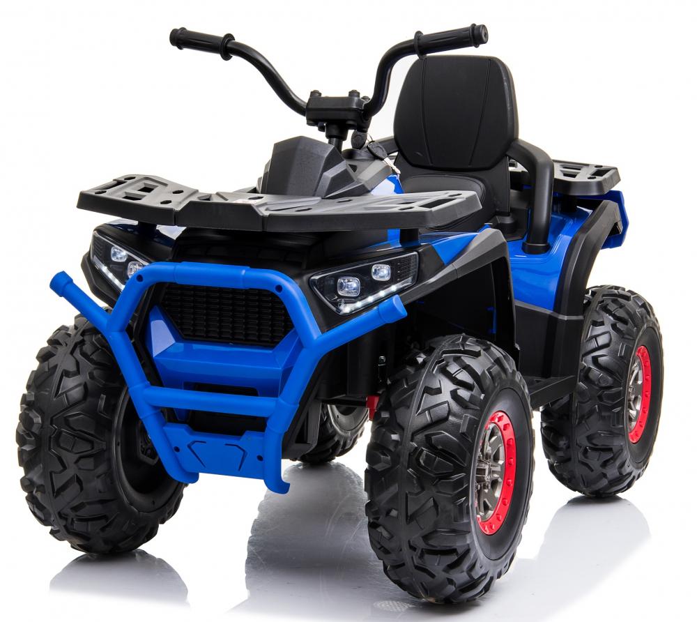 Atv electric Nichiduta Desert cu roti din cauciuc si pornire la cheie 12V blue