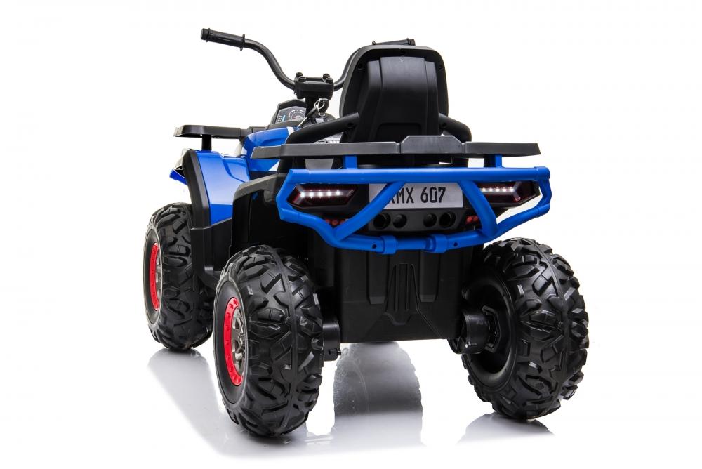 Atv electric Nichiduta Desert cu roti din cauciuc si pornire la buton 12V blue - 4