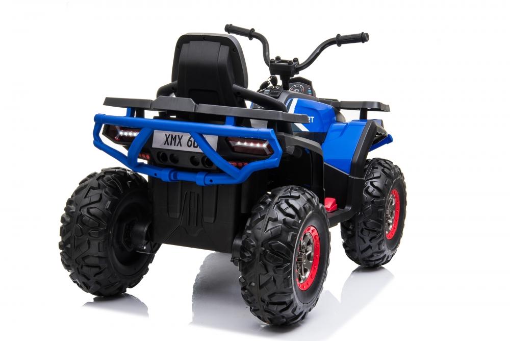 Atv electric Nichiduta Desert cu roti din cauciuc si pornire la buton 12V blue - 5