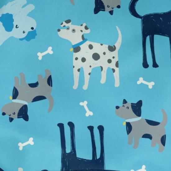 Bavetica multifunctionala cu maneci lungi Green Sprouts Aqua Dogs 12-24 luni