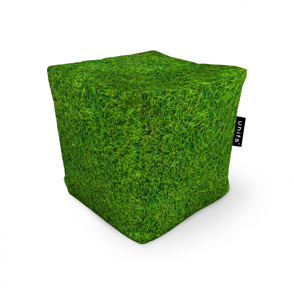 Fotoliu Units Puf Bean Bags tip cub impermeabil iarba verde