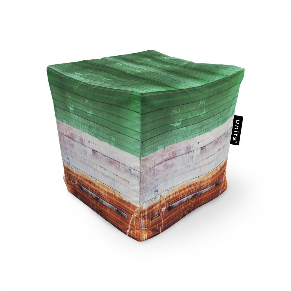 Fotoliu Units Puf Bean Bags tip cub impermeabil lemn vopsit
