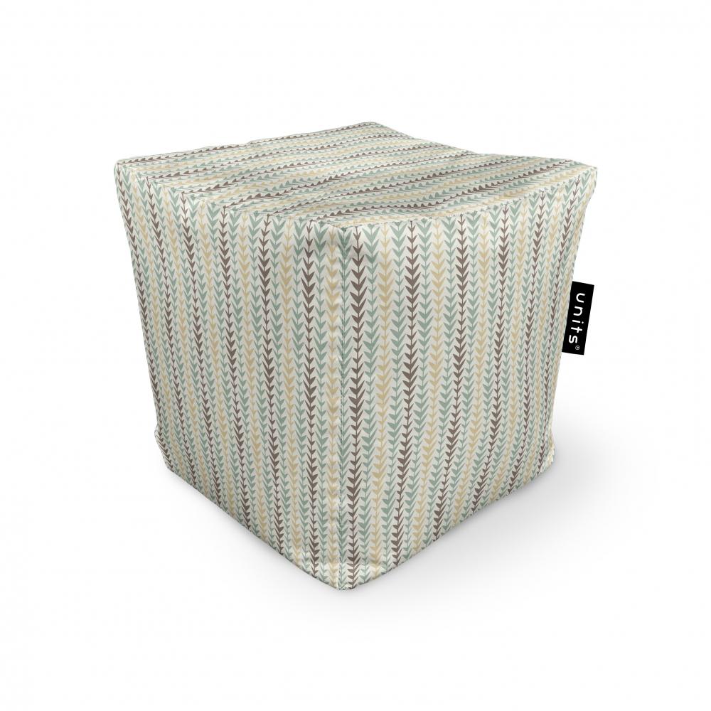 Fotoliu Units Puf Bean Bags tip cub impermeabil motiv frunze verticale