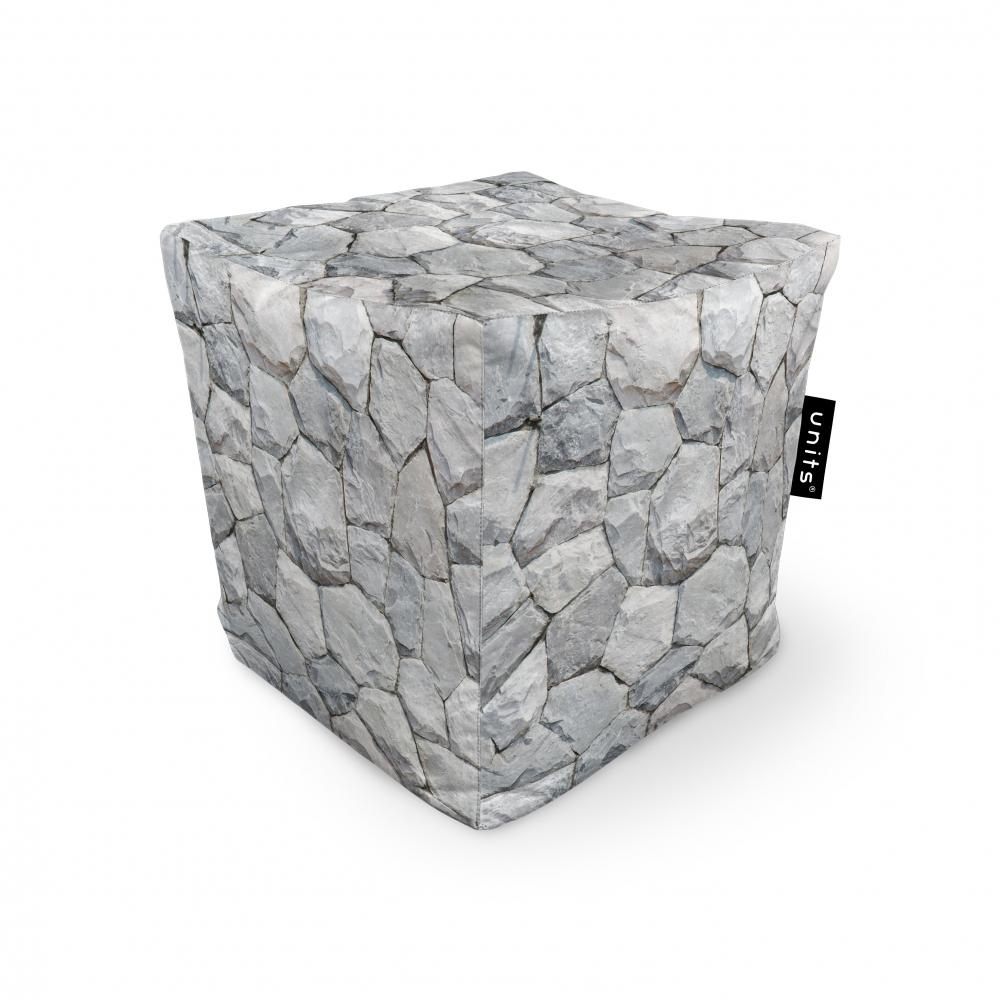 Fotoliu Units Puf Bean Bags tip cub impermeabil pietre albe