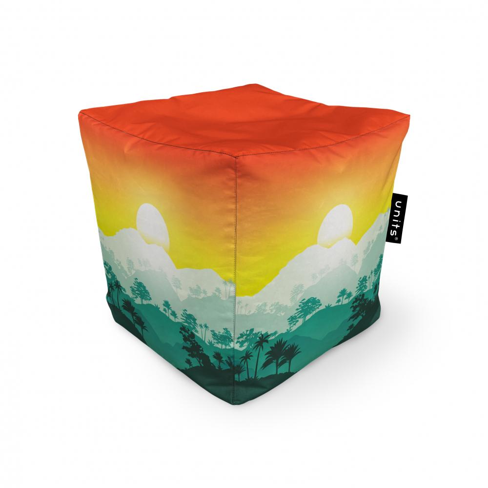 Fotoliu Units Puf Bean Bags tip cub impermeabil tropical