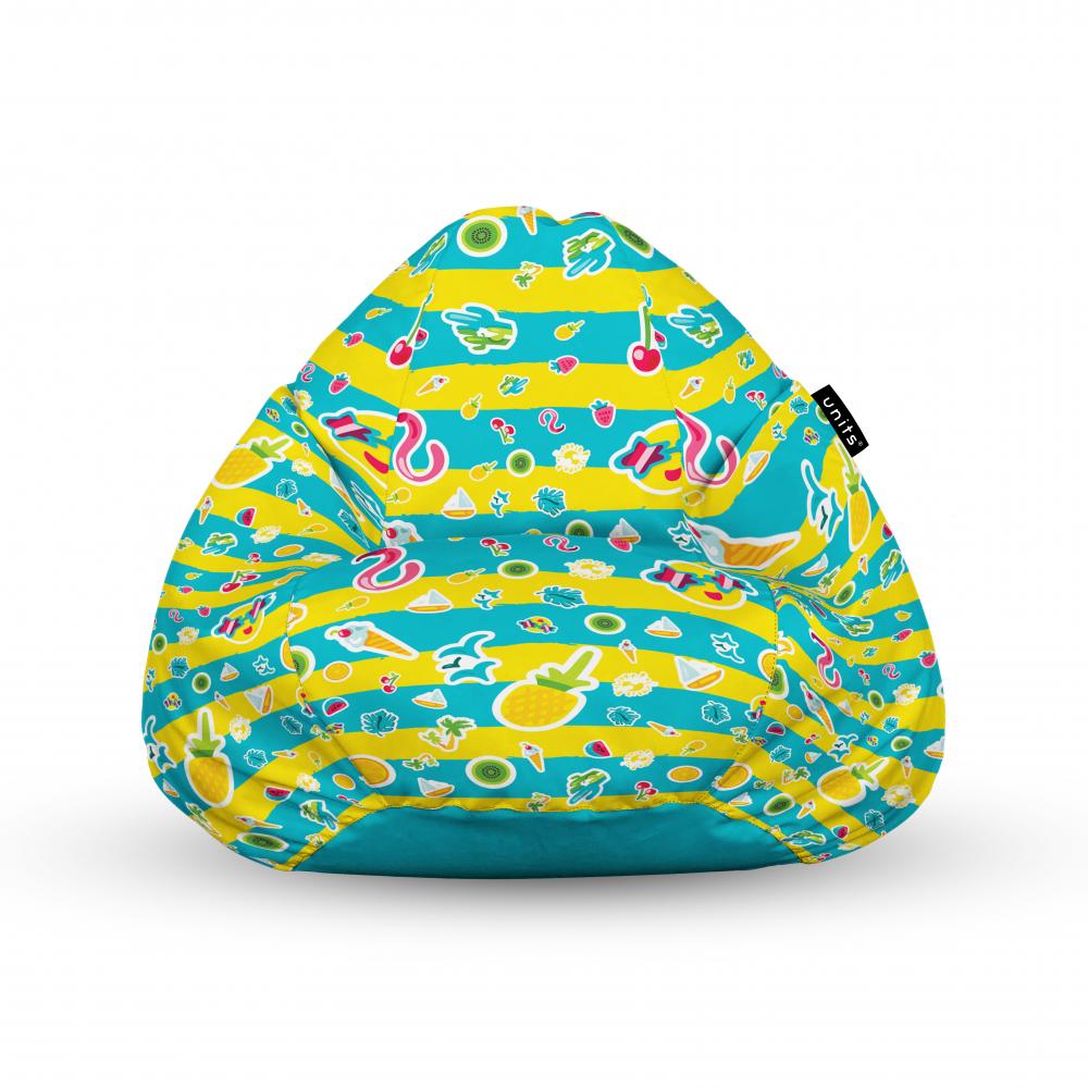Fotoliu Units Puf Bean Bags tip para impermeabil cu maner candies fundal in dungi imagine