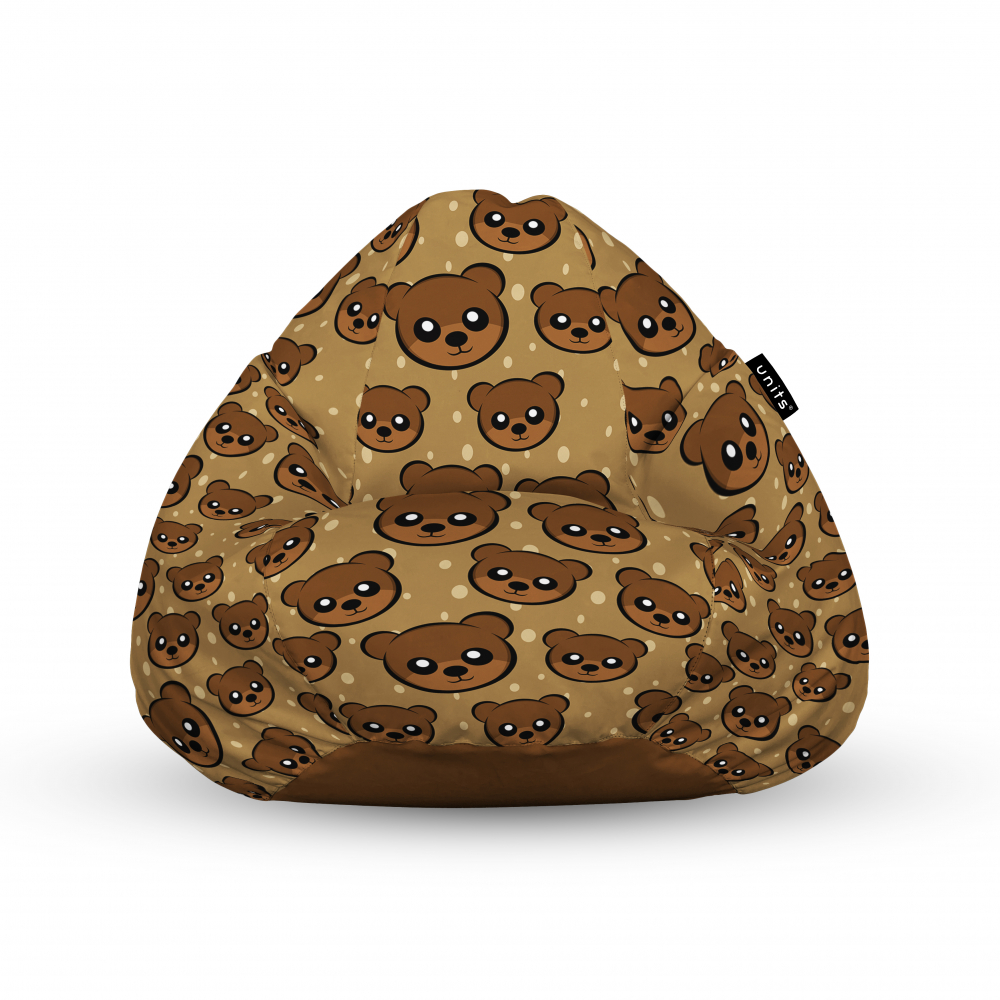Fotoliu Units Puf Bean Bags tip para impermeabil cu maner cute brown bear