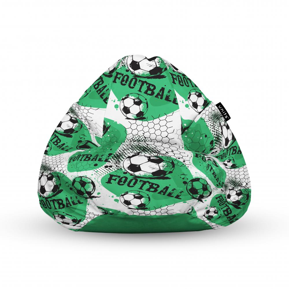 Fotoliu Units Puf Bean Bags tip para impermeabil cu maner fotbal