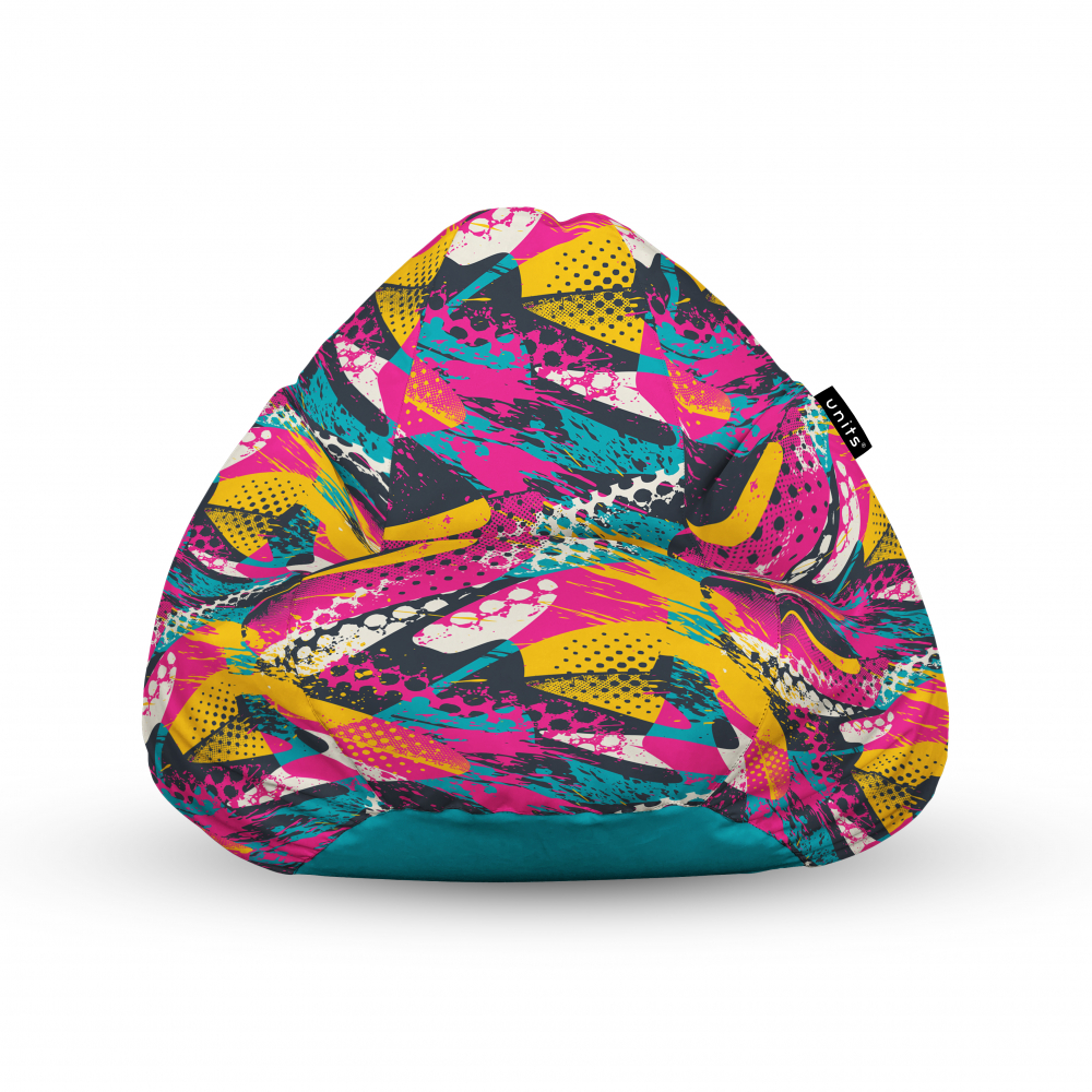 Fotoliu Units Puf Bean Bags tip para impermeabil cu maner graffiti abstract grunge