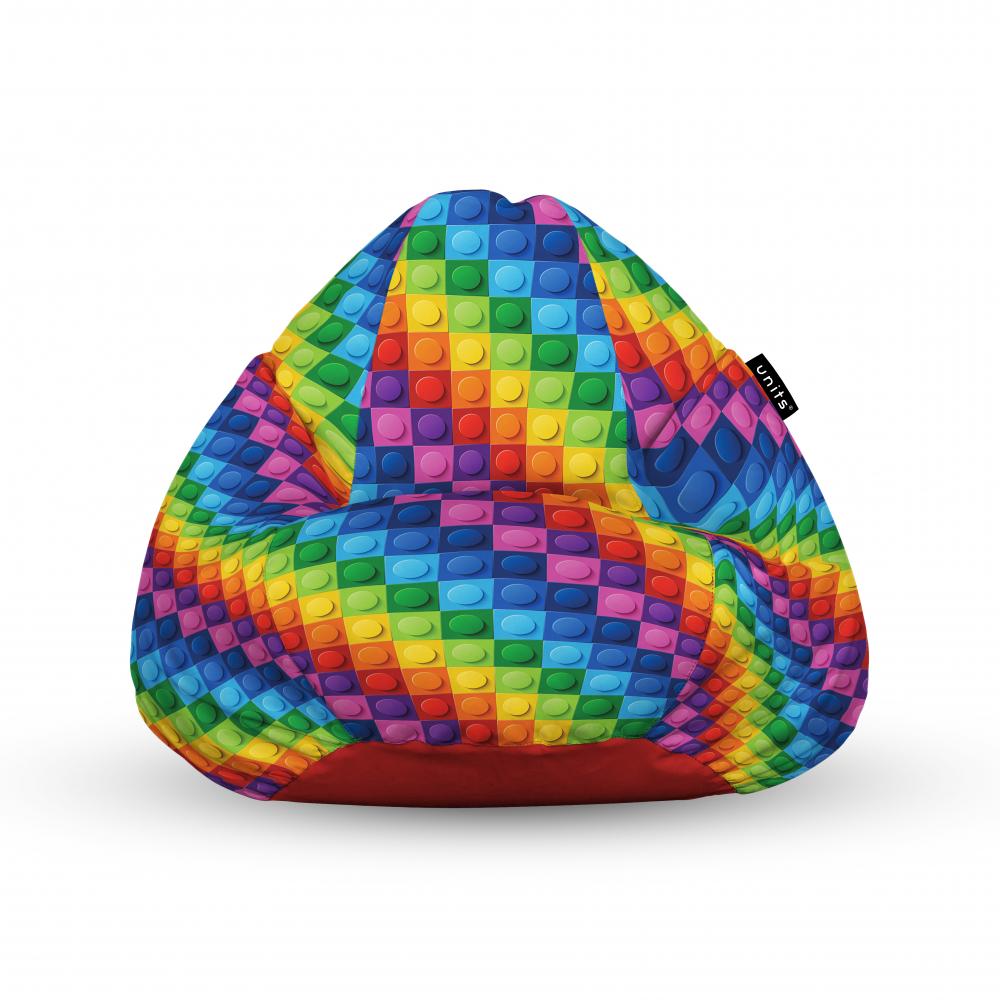 Fotoliu Units Puf Bean Bags tip para impermeabil cu maner lego abstract