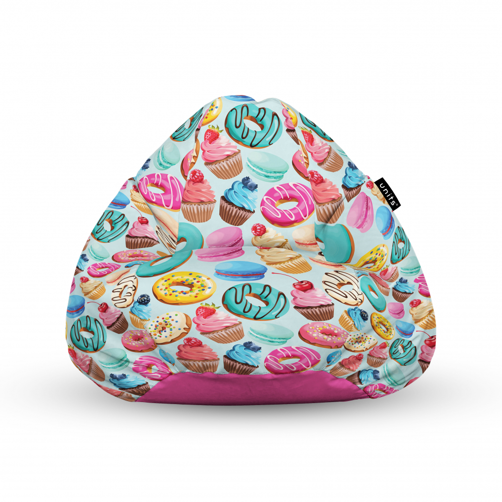 Fotoliu Units Puf Bean Bags tip para impermeabil cu maner macarons imagine