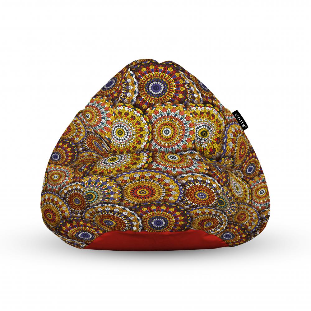 Fotoliu Units Puf Bean Bags tip para impermeabil cu maner mandala