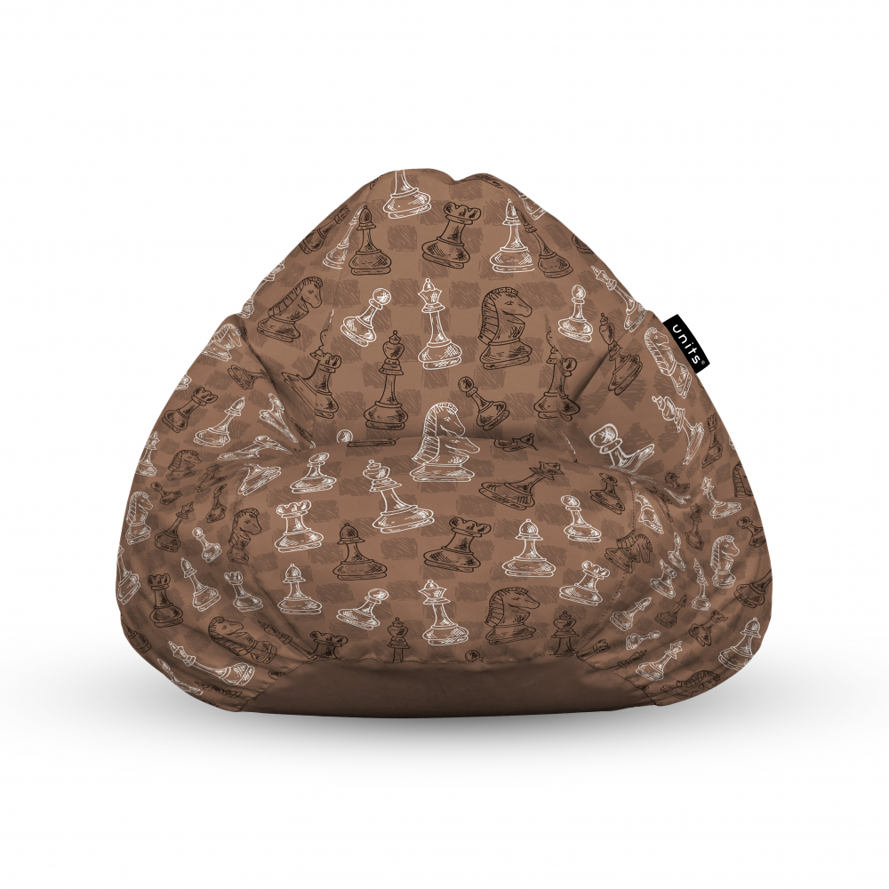 Fotoliu Units Puf Bean Bags tip para impermeabil cu maner piese sah maro