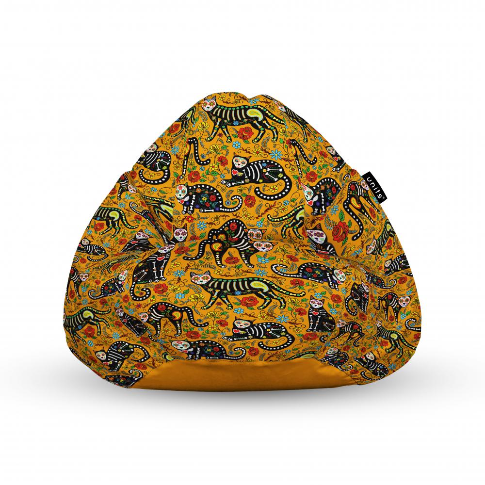 Fotoliu Units Puf Bean Bags tip para impermeabil cu maner pisici dia de los muertos