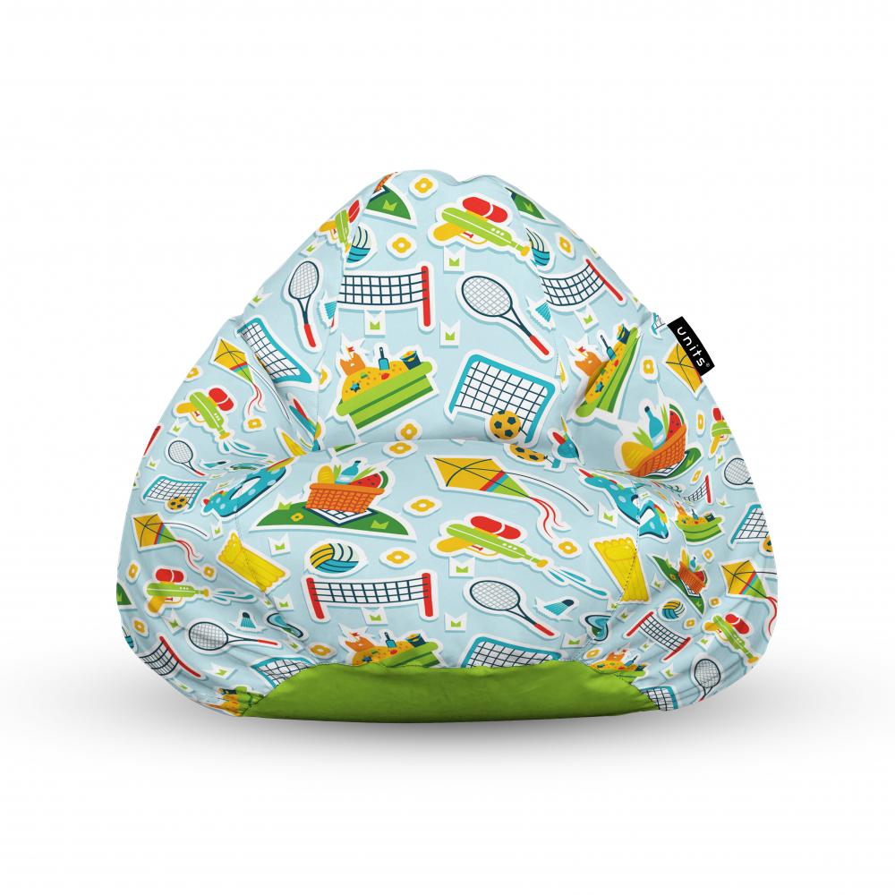 Fotoliu Units Puf Bean Bags tip para impermeabil cu maner sporturi in aer liber