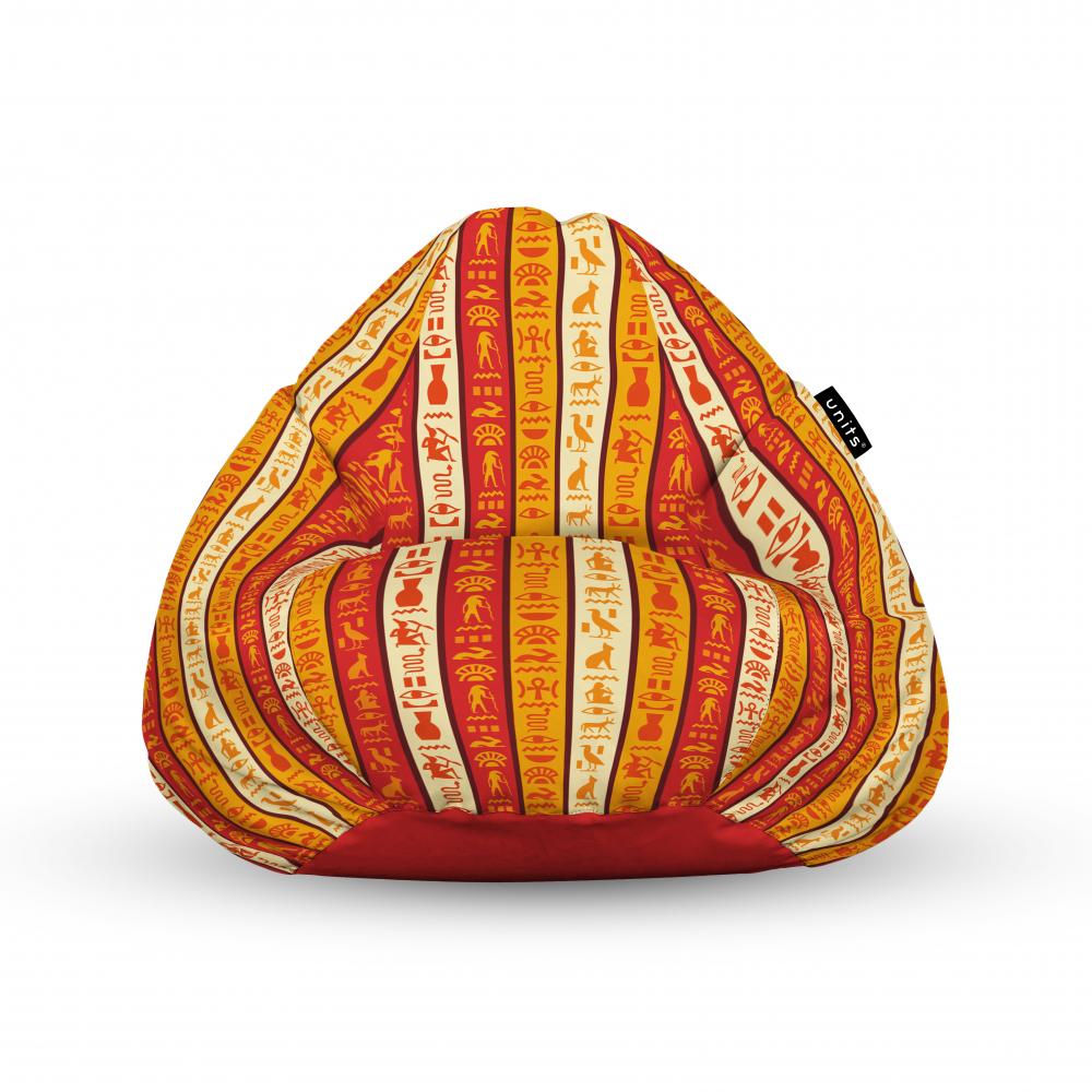 Fotoliu Units Puf Bean Bags tip para impermeabil cu maner hieroglife egiptene