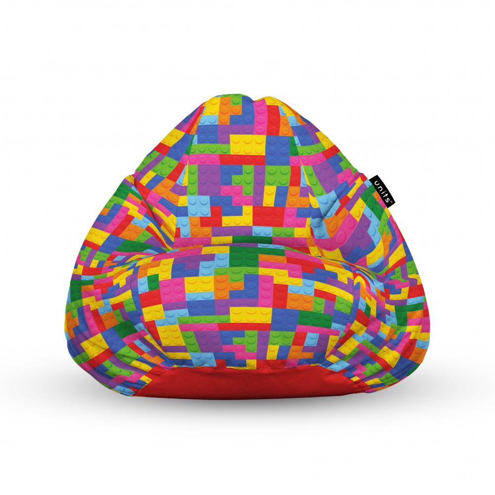 Fotoliu Units Puf Bean Bags tip para impermeabil cu maner lego tetris